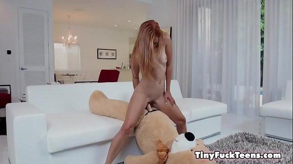 Immature Spinner Caught Fucking A Teddy Bear - Kadence Marie