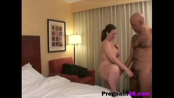 Chubby pregnant chick gets fucked doggystyle by bald dude-big-2 Thumb