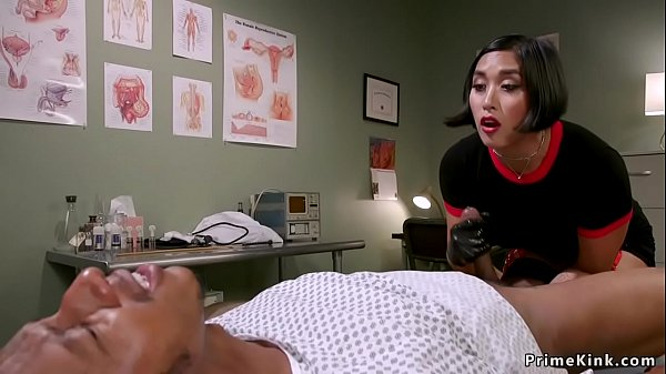 Asian dom doctor strokes black slaves dick Thumb