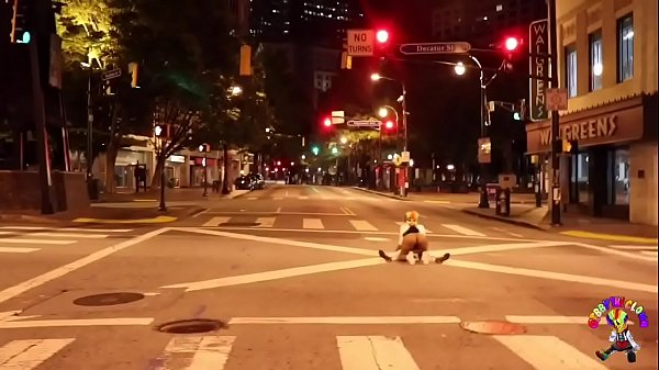 Clown gets dick sucked in middle of the street