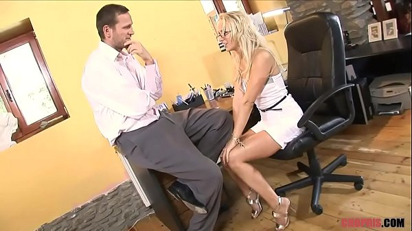 Blonde MILF in High Heels Rides Dude the Sofa  Porn Thumb
