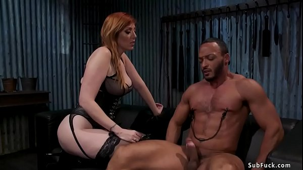 Busty domme gives face sitting to man