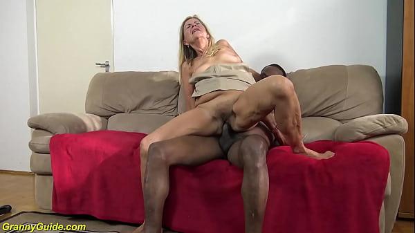 grandma gets destroyed by a big black dick