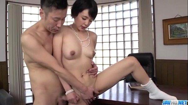 Adorable beauty Sakura Aida bends over for a good fuck