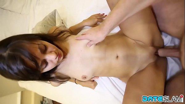 Ukrainian brunette lovingly sucks my cock before laying back for hard fuck Thumb