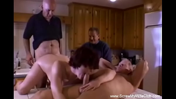 Swinger Wife 3some In The Kitchen Just To Feel Good