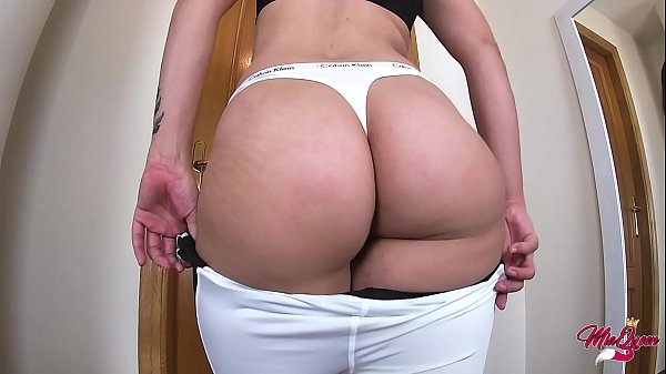 Amateur Pawg Teen fucking in Calvin klein thongs and Yoga Pants - Amateur Sextape
