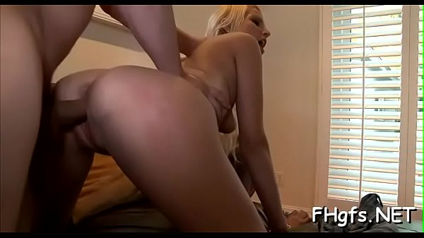 Slender blonde Vanessa chokes on a dick