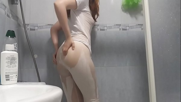 White shirt and tights shower with a redhead! - PREVIEW Thumb
