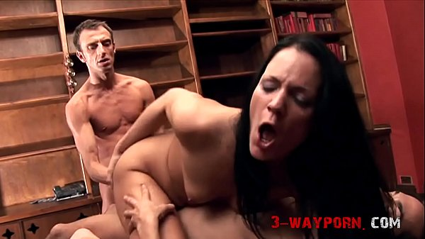 3-Way Porn - Schoolgirl Vanessa Hill DPed with Anal Gaping
