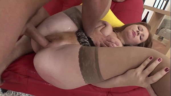 Cute slut in stockings anal banged