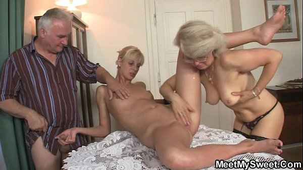 His GF and parents in hot threesome Thumb