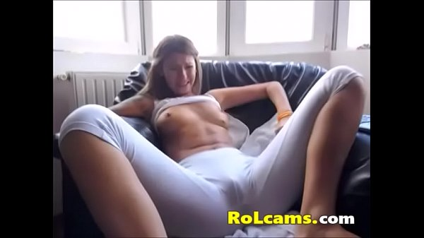 Teen in pants masturbates with her fingers Thumb