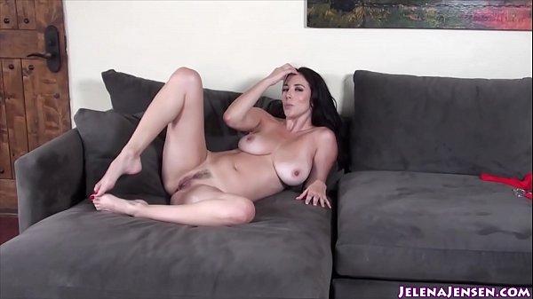 Busty Babe Jelena Jensen Masturbates in Red Stockings! Thumb