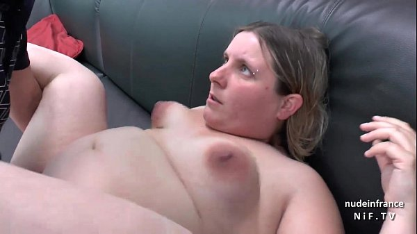 Casting couch of a fat bbw french blonde sodomized and jizzed on tits by her bf Thumb