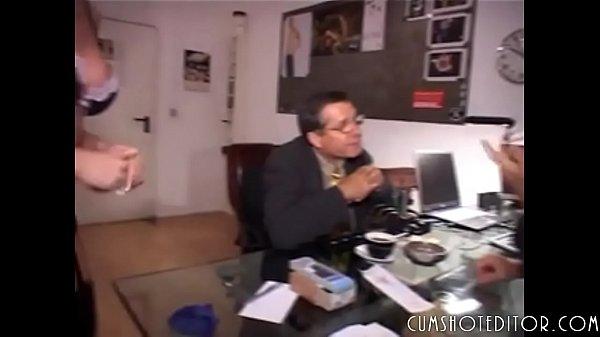 Nasty German Secretaries Pleasing Two Cocks