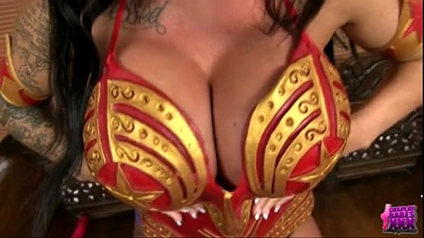 KERRY LOUISE COSPLAYS AS WONDERWOMAN AND WONDERS WHO TO FUCK - BigCams.net Thumb