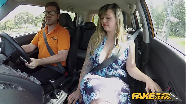 Fake Driving School Massive British boobs one last lesson Thumb
