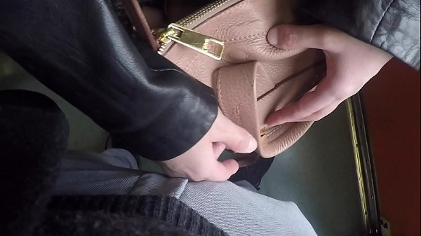 Horny Married Bulge Watcher Milf Touch my Cock at Subway! Thumb