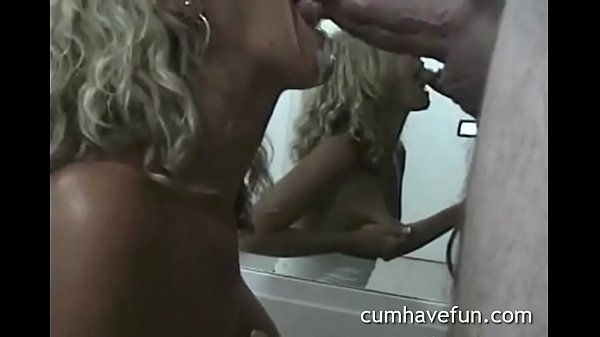 Wife doesn't stop after cum in mouth. Perfect b...