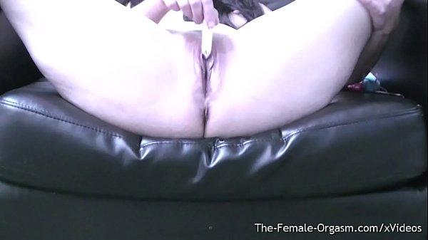 Femorg Babe Masturbates Super Wet Pussy to Orgasm with Vibrator