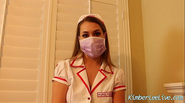 Nurse Kimber Lee Gives Handjob in her Purple Latex Gloves! Thumb