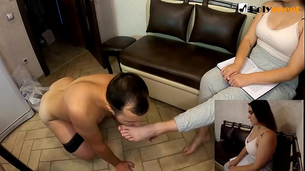 I'm reading a book. Guy fucks my feet, cums and cleans up after him
