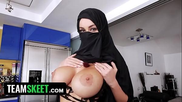 Busty Arabic Muslim Teen (Victoria June) Cheats On Her Husband While Wearing A Hijab - TeamSkeet