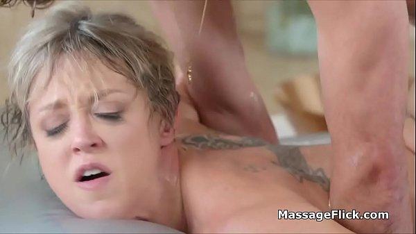 Banging friends big tit masseuse mom at the parlor
