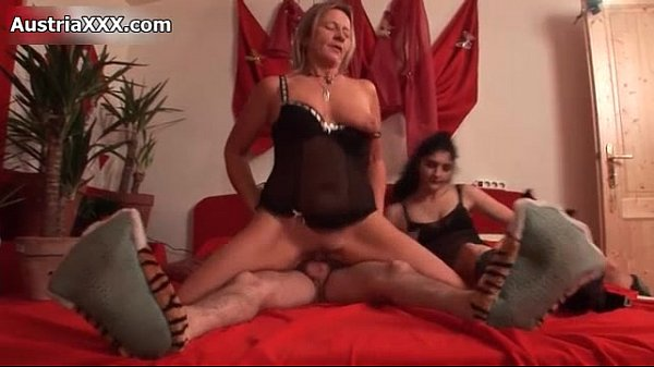 Dirty mature whores share an hard cock