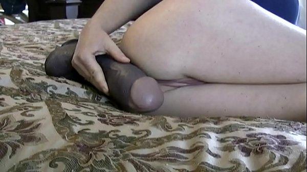 White MILF Farting On Big Black Cock Dildo