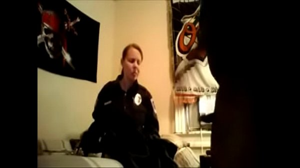 Homemade USA Female Police Officer Fucks Her Black Nerd BF