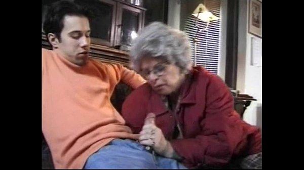Grandma sucks off grandson