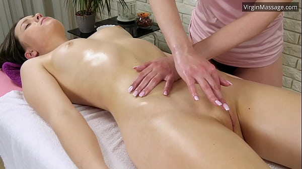 Petite sister Adelyn gets massaged until she cums