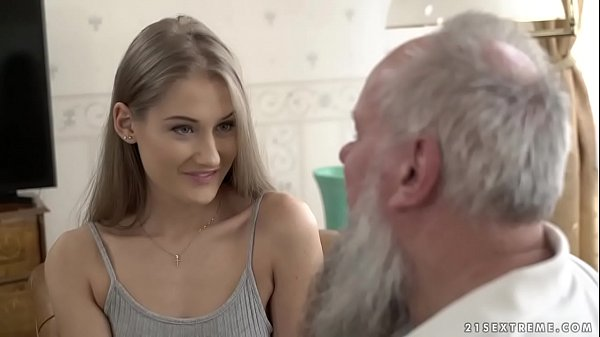 Teen beauty vs old grandpa - Tiffany Tatum and Albert Thumb