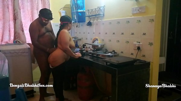 indian aunty boobs-fucking in the kitchen role play