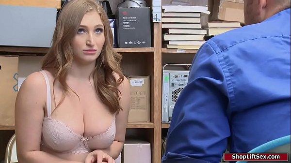 Store officer assfucks busty shoplifter