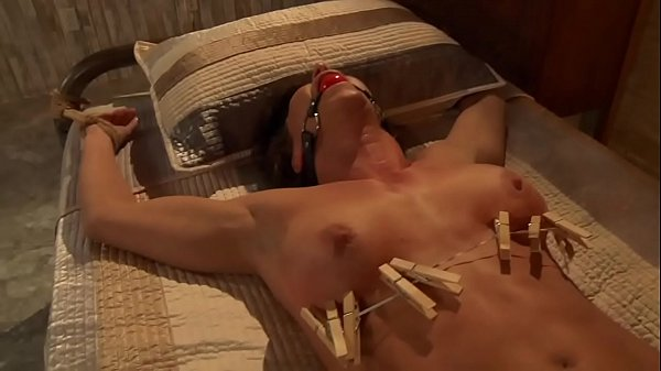 Busty Slave Whipped and Toyed Thumb