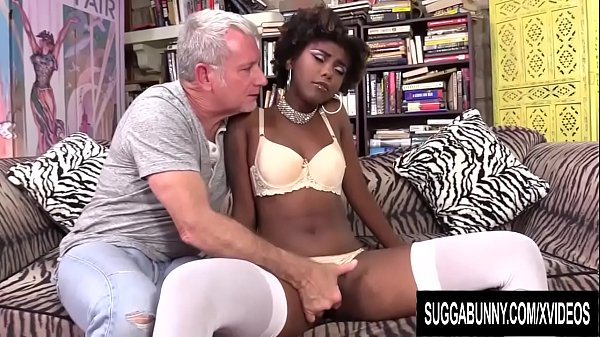 Ebony Sweetheart Daizy Cooper Is Pussy Plowed by an Older White Man