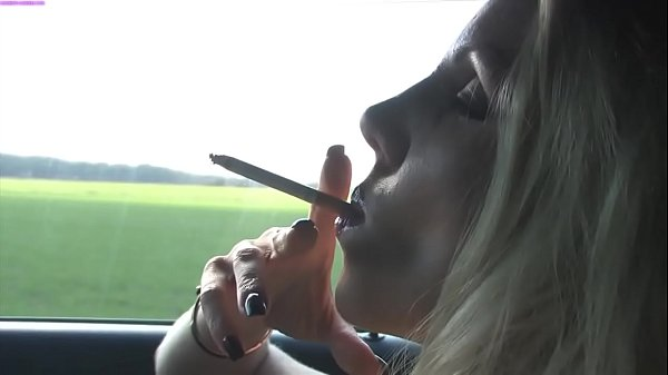 Smoking before fucking a young and shy virgin