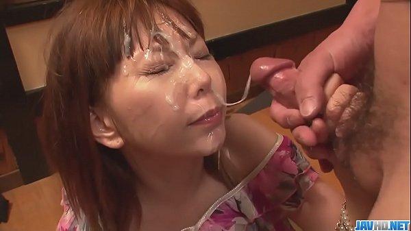 Minami Kitagawaґs foursome ends in an asian cum facial - More at javhd.net