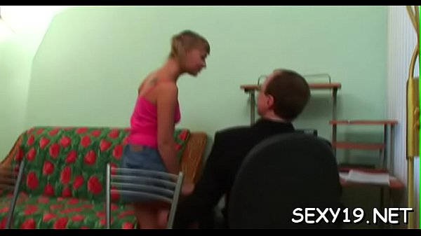 School Pron: Chick Is Charming Teacher's Rod With Zealous Blowjob