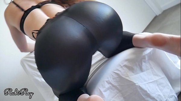 Step Sister wants me to fuck her in leather leggings - Creampie
