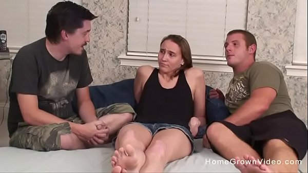 Amateur blonde has all of her holes stuffed at once Thumb