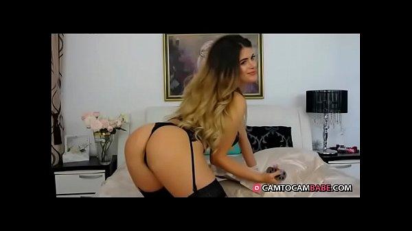 Beautiful girl plays  dildo live cam