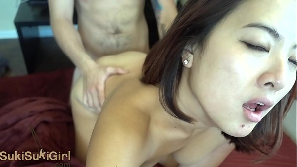 Asian Goddess THROATFUCK and passionate sex with White man Thumb