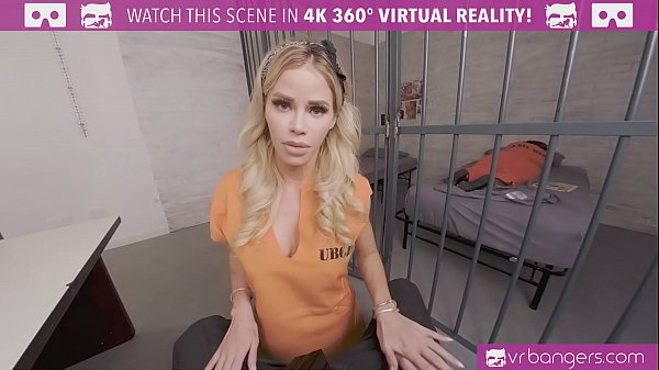 VRBangers.com-Beautiful prisoner is working your dick to get out of prison Thumb