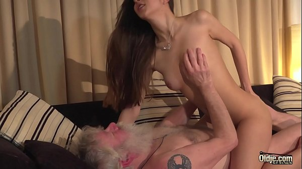 Old Man Fucks Young and Beautiful Brunette Girl