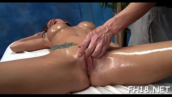 Fellow's huge cock enters her clean shaved pink pussy