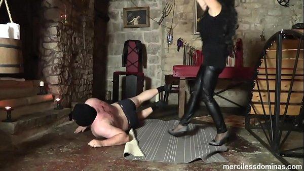 High Heels Destruction of Bitrack - Lady G and Mistress Pandora Destroying the Slave's Back